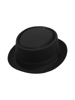 Black Small Brim Pork Pie Hat