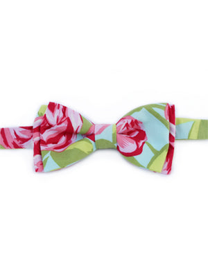 Light Floral Bow Tie