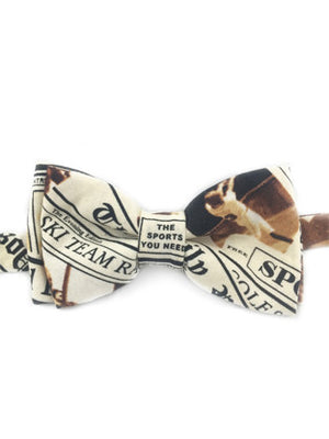 Newspaper Print Bow Tie - Reign Bow Ties - 1