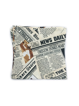 Newspaper Print Pocket Square - Reign Bow Ties - 1