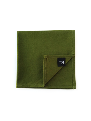 Olive Green Pocket Square