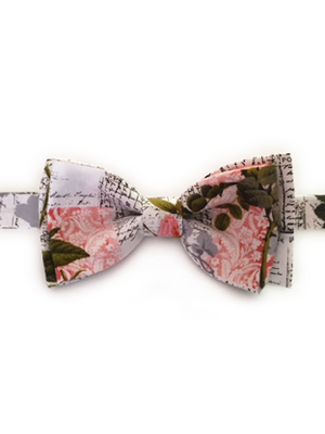 Romantic Scripts Bow Tie