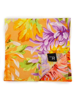 Yellow Botanical Pocket Square