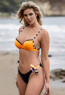 Joanna Three-piece Orange Bikini Set
