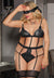 Nyla Love Affair Black Lace Teddy