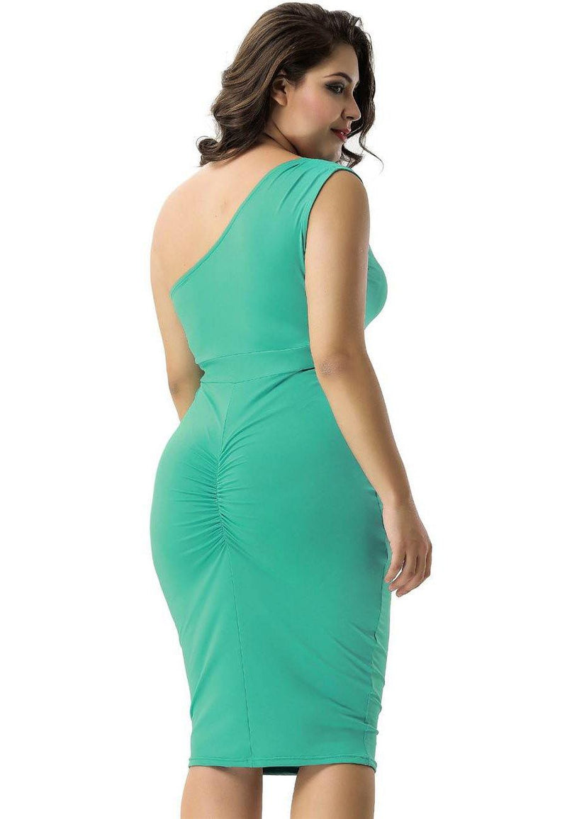 Amy Delicate One-shoulder Bodycon Dress