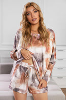 Molly Bat Sleeve Tie-dye Knit Drawstring Lounge Set