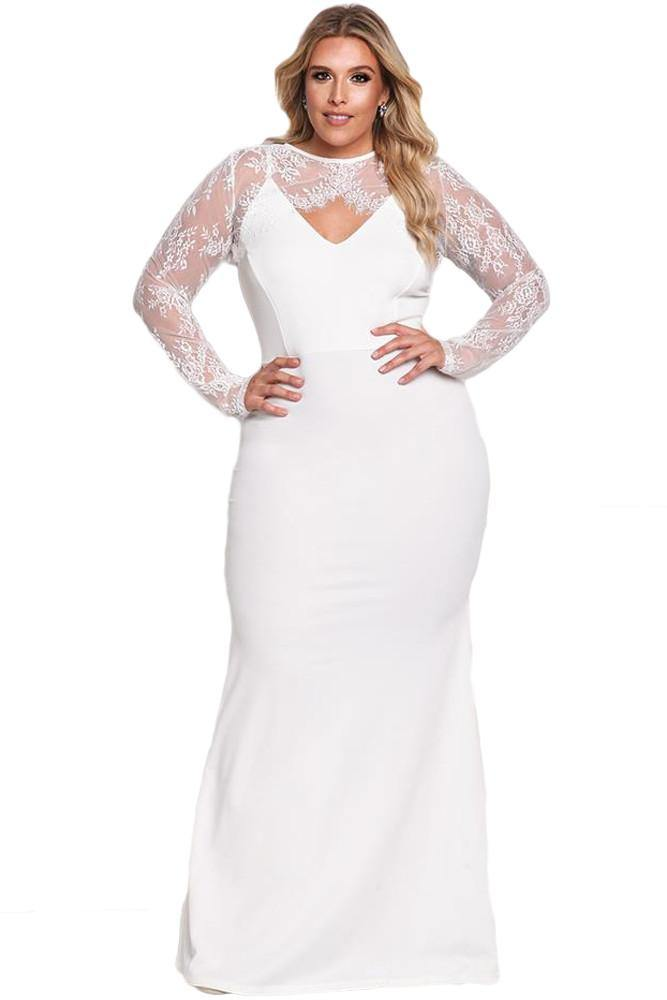Rachel Lace Bolero Mermaid Gown