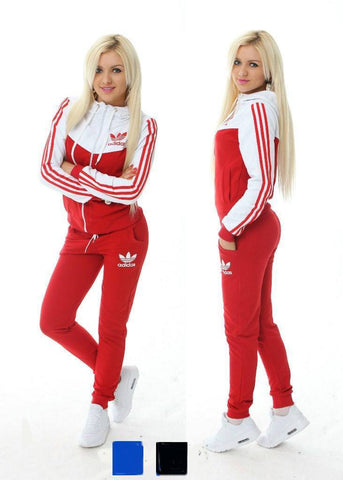 Tracksuit sports wear red