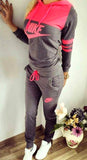 Pullover Charcoal gray, watermelon  top , hoodie set