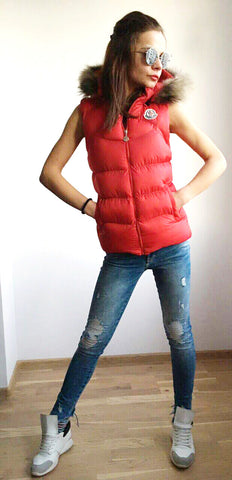 Vest  in Red with hoodie