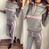 New Fashion Women Sportswear suit sexy   sports Costumes 2 Piece Set tops+pants