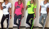 V neck Short Sleeves Top Hoodie Pullover Top and pants Sport Set in 4 colors