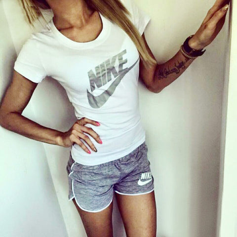 Summery Shorts Shirt gray set