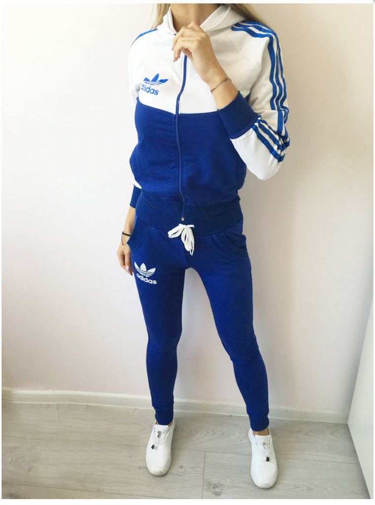 Blue and white set , zip and hoodie  top
