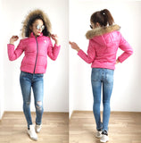 Ultra Light Weight, Worm,Faux Fur Hooded ,Short Jacket in Pink