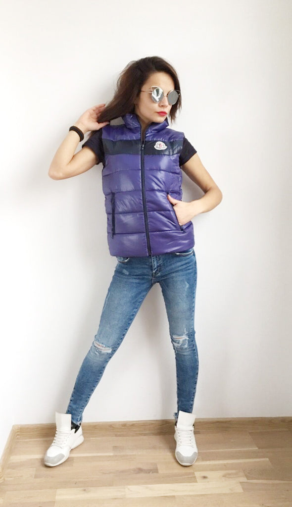 Vest  in Purple with black