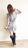 Bleeding Heart Gray Dress
