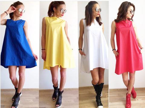 A line dress in color you love