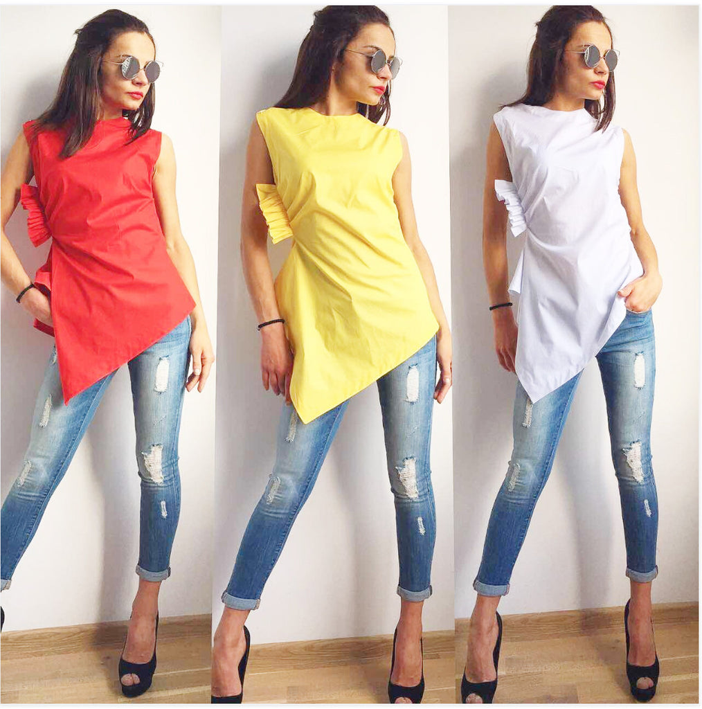 Trendy Twisted Blouse Top