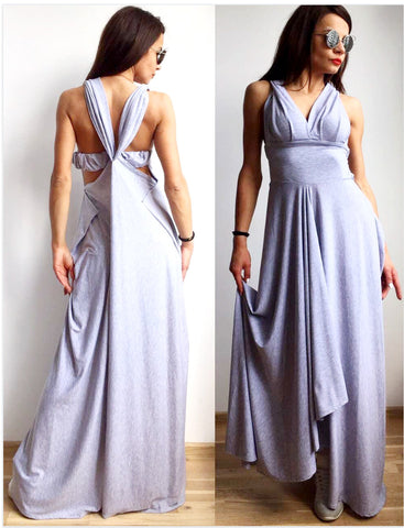 Violet Twist Wrap Long Dress