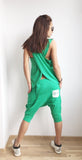 Drop Crotch Harem Style Loose Fit Asymmetrical Pants and Wrap Top 07