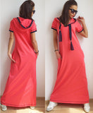 Long Hooded Watermelon Dress