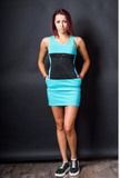 Workout  Mini Dress - Pink ,Blue,Black