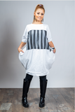 White Tunic Top Oversizes Dress Urban Free Spirit