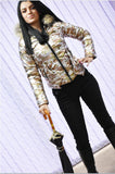 Faux-Fur-Trim Hooded Puffer Army Jacket