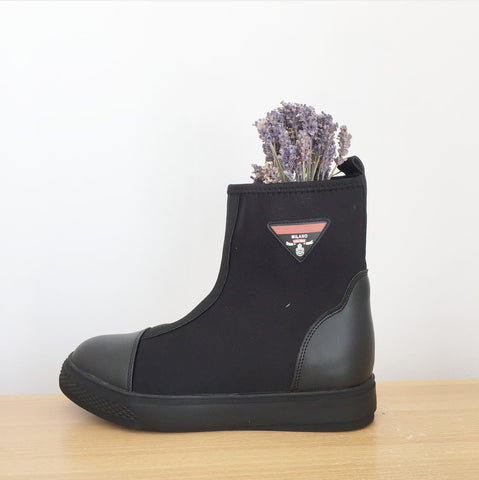 Stretch Platform Milano Black Boot