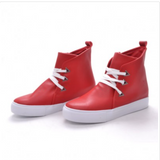 Red Platform Classic Ankle Boot