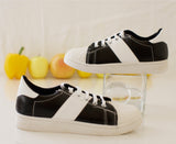 Women's Superstar Casual Sneakers Retro Style Navy and White