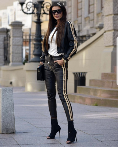 Golden Side Straps on Jacket and pants