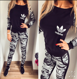 Comfort and style Tracksuit sports wear army green and black