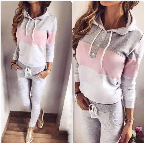 Baby Pink Gray and White Set