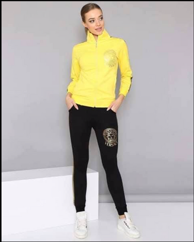 Yellow Top Black Pants   Set