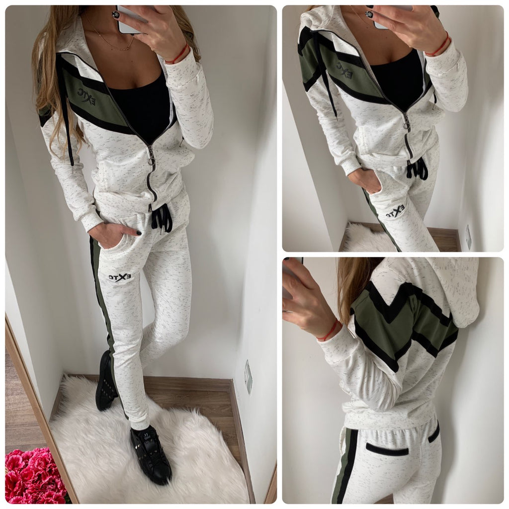 Sport set, zip and hoodie top EXOTIC in grey