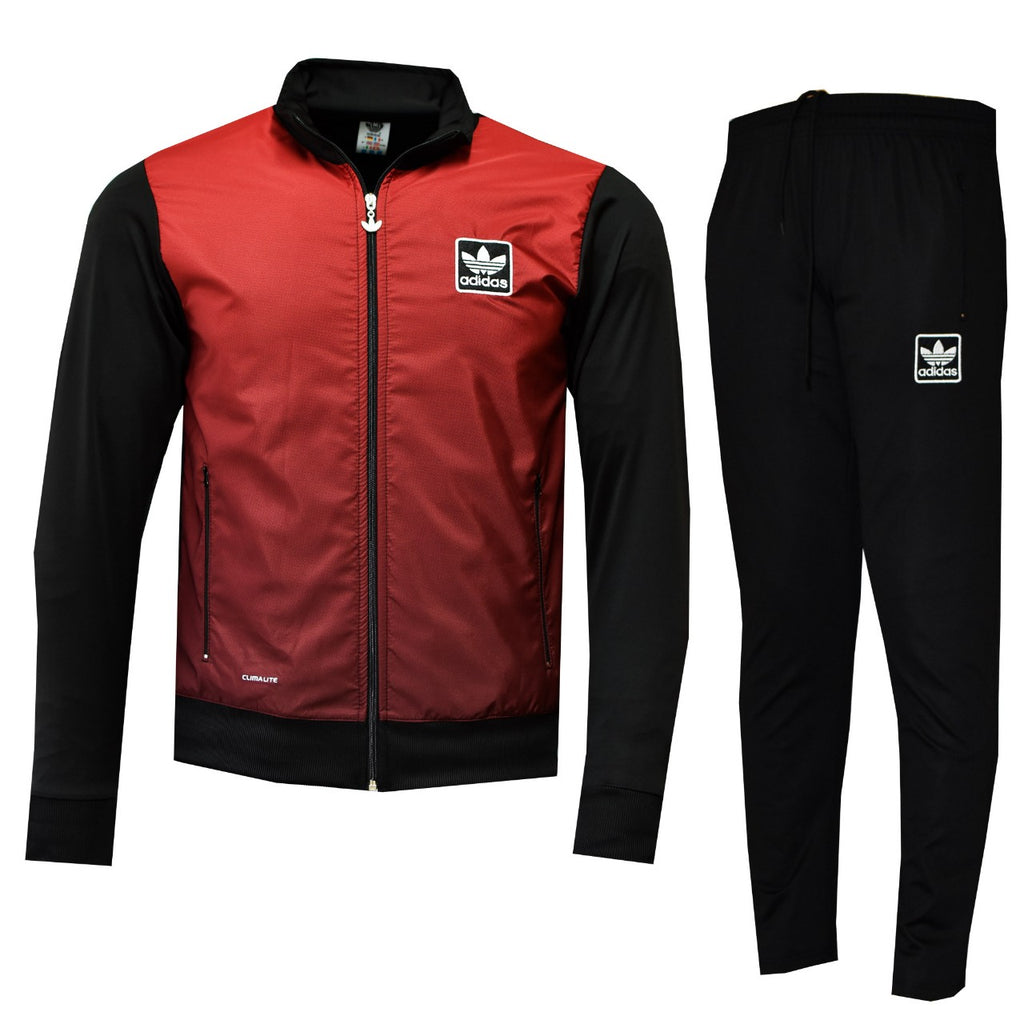 Tracksuit sports wear man in red