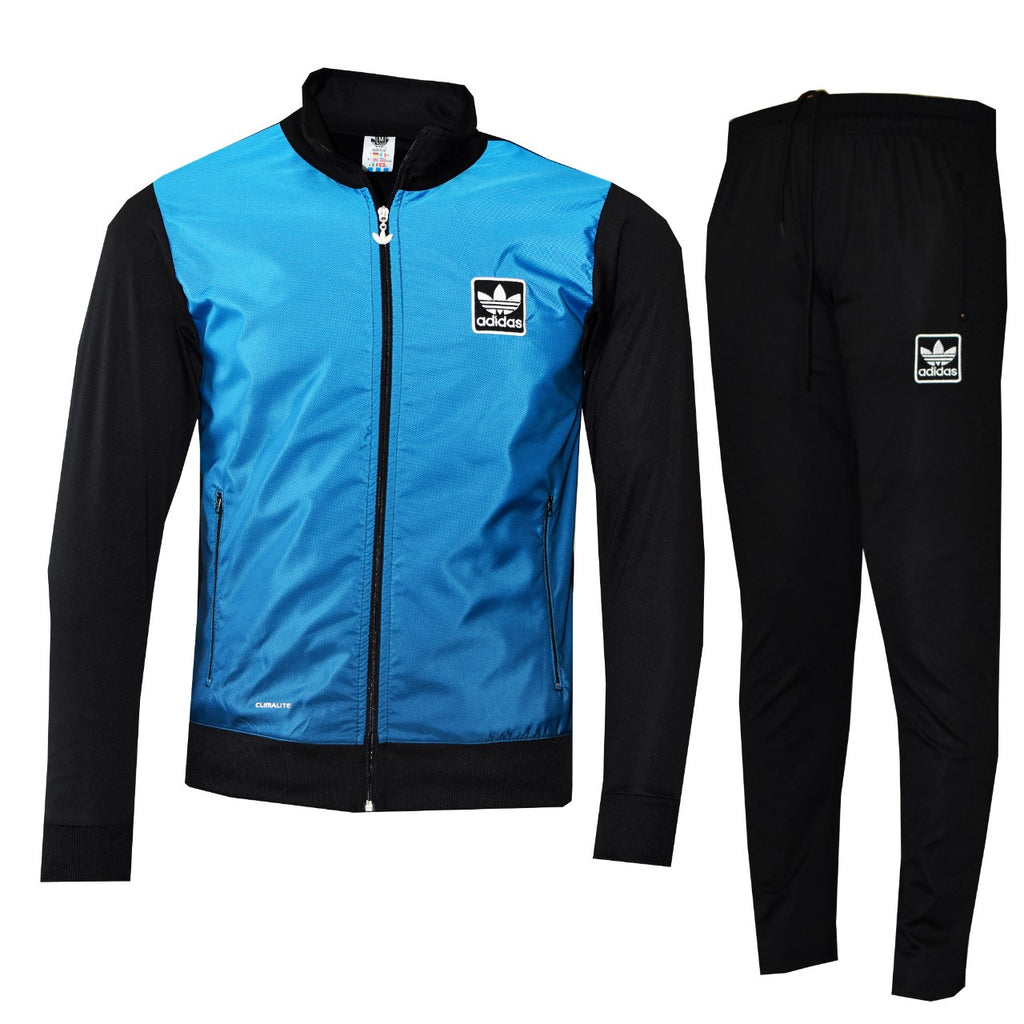 Tracksuit sports wear man in blue