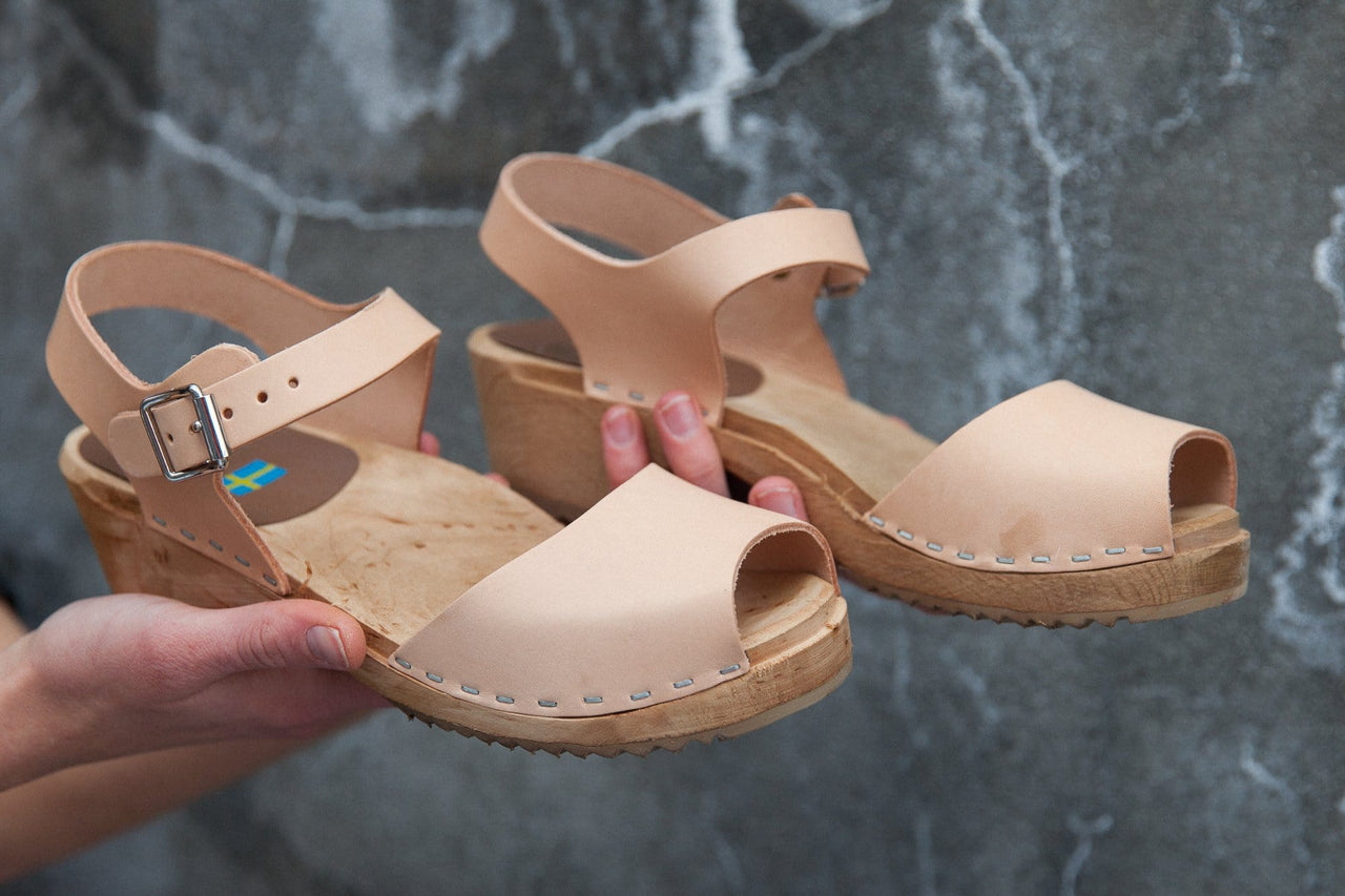 Mia Anja Clogs Natural Leather