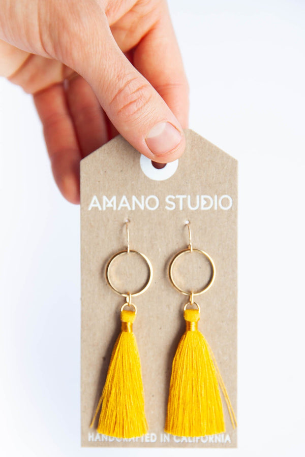Tassel Earrings Yellow