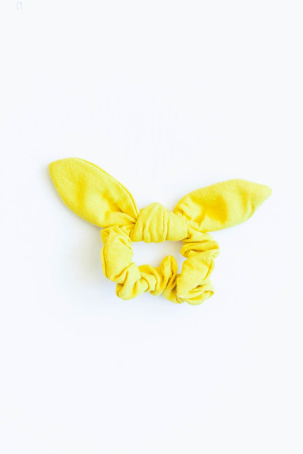 Yellow Bow Scrunchie