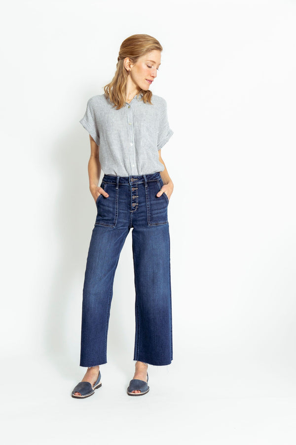 Shelby Cropped Denim Dark Wash