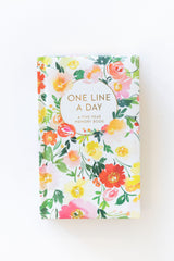 One Line a Day Journal Floral