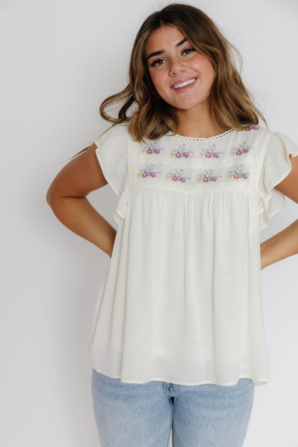 Adrianna Blouse in Ivory