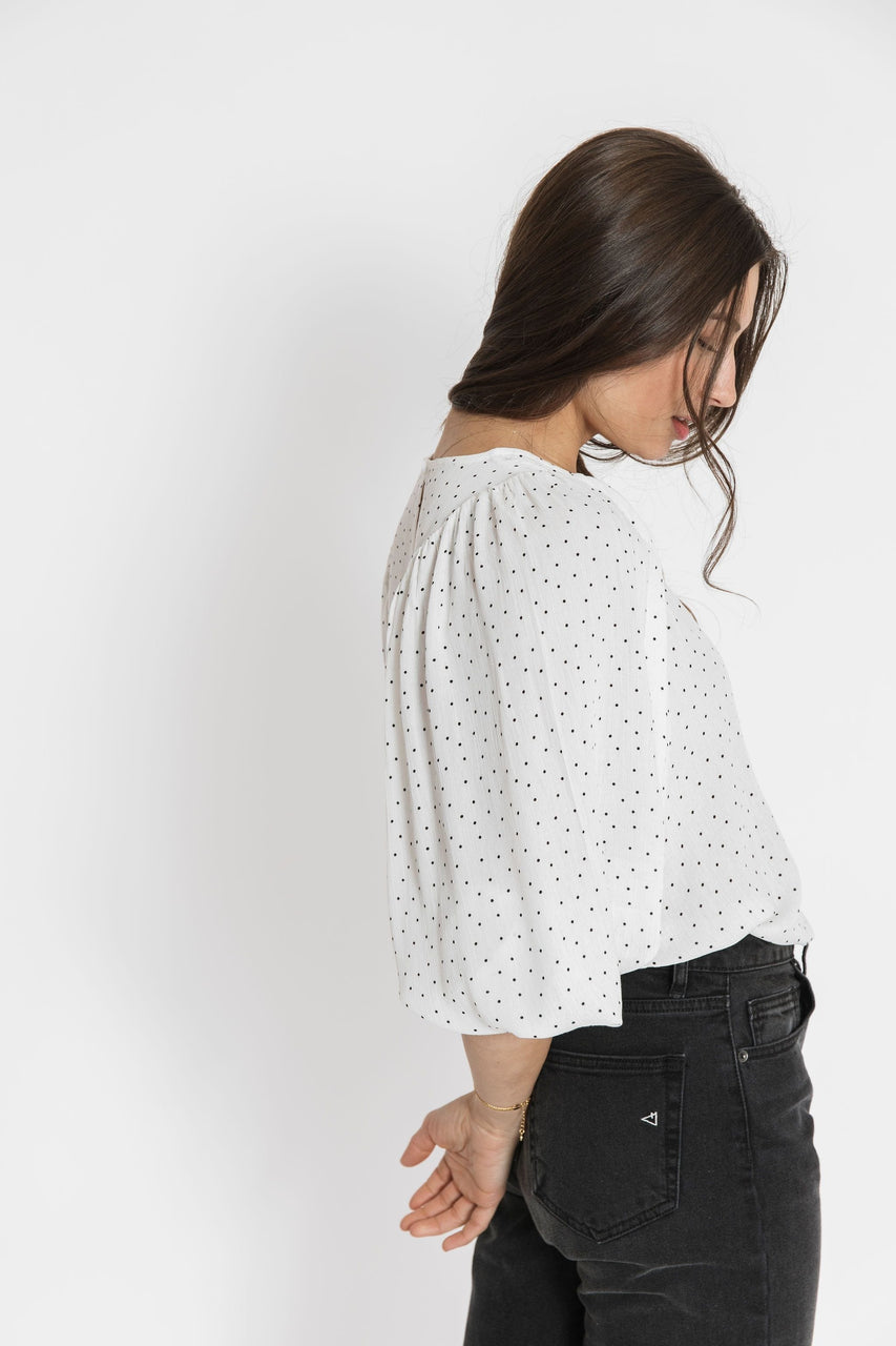 Ann Blouse in Ivory