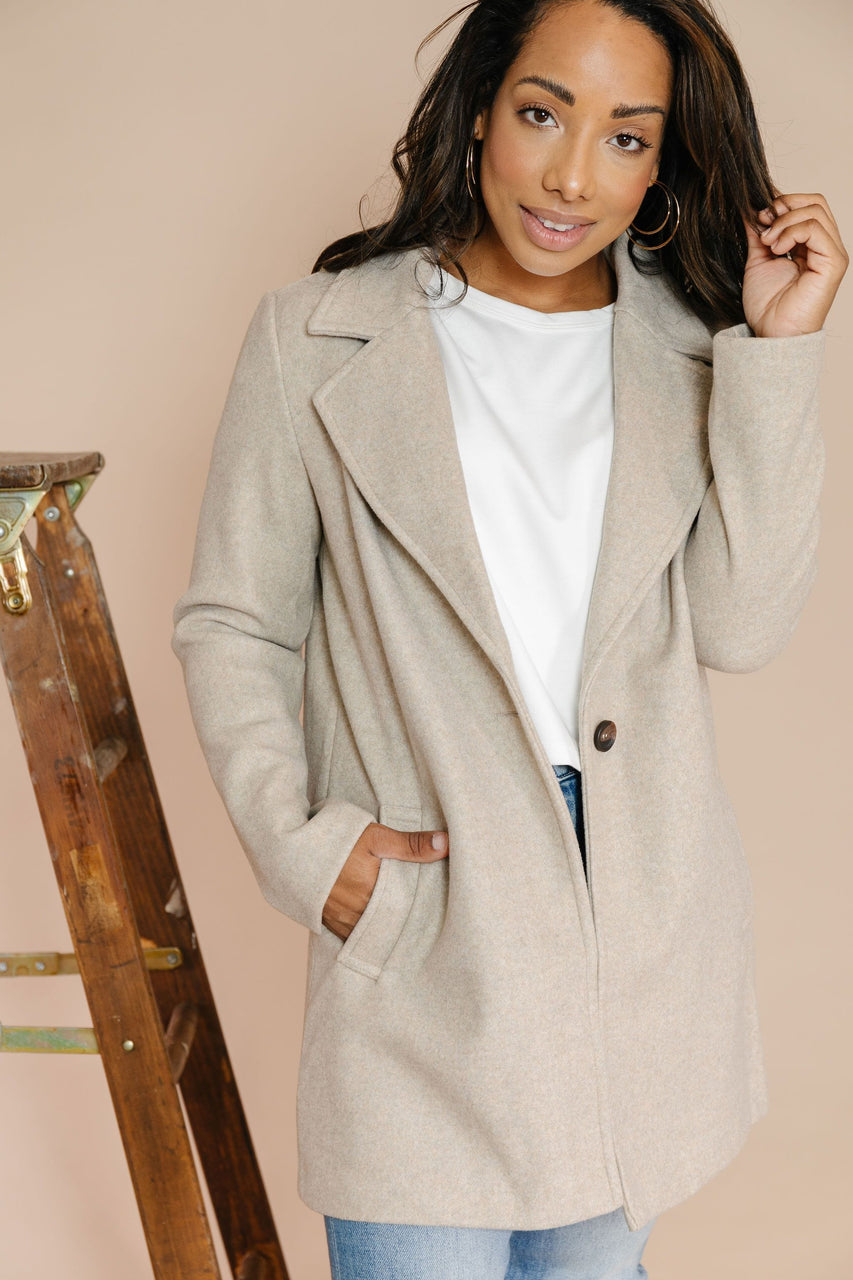 Audrey Coat in Oatmeal