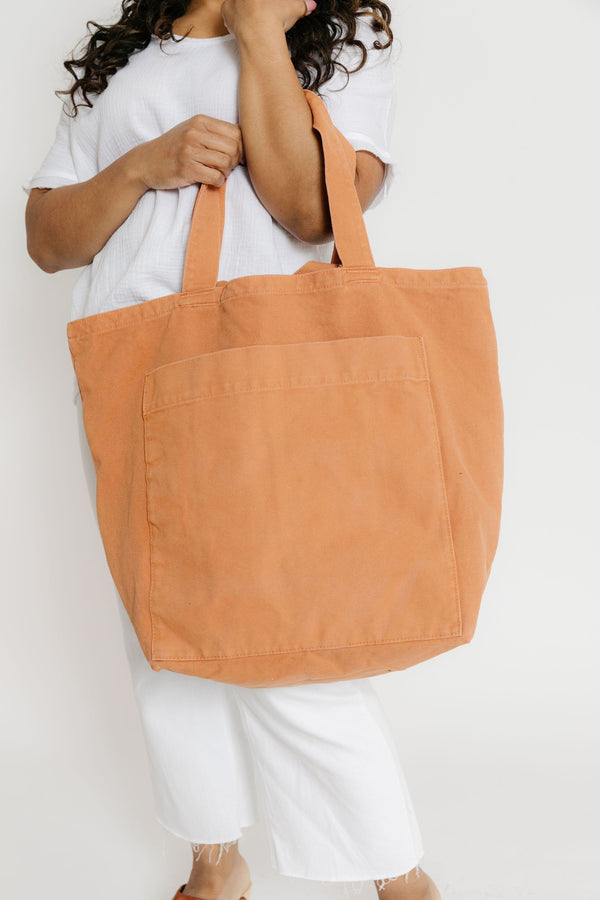 Baggu Giant Pocket Tote Washed Adobe