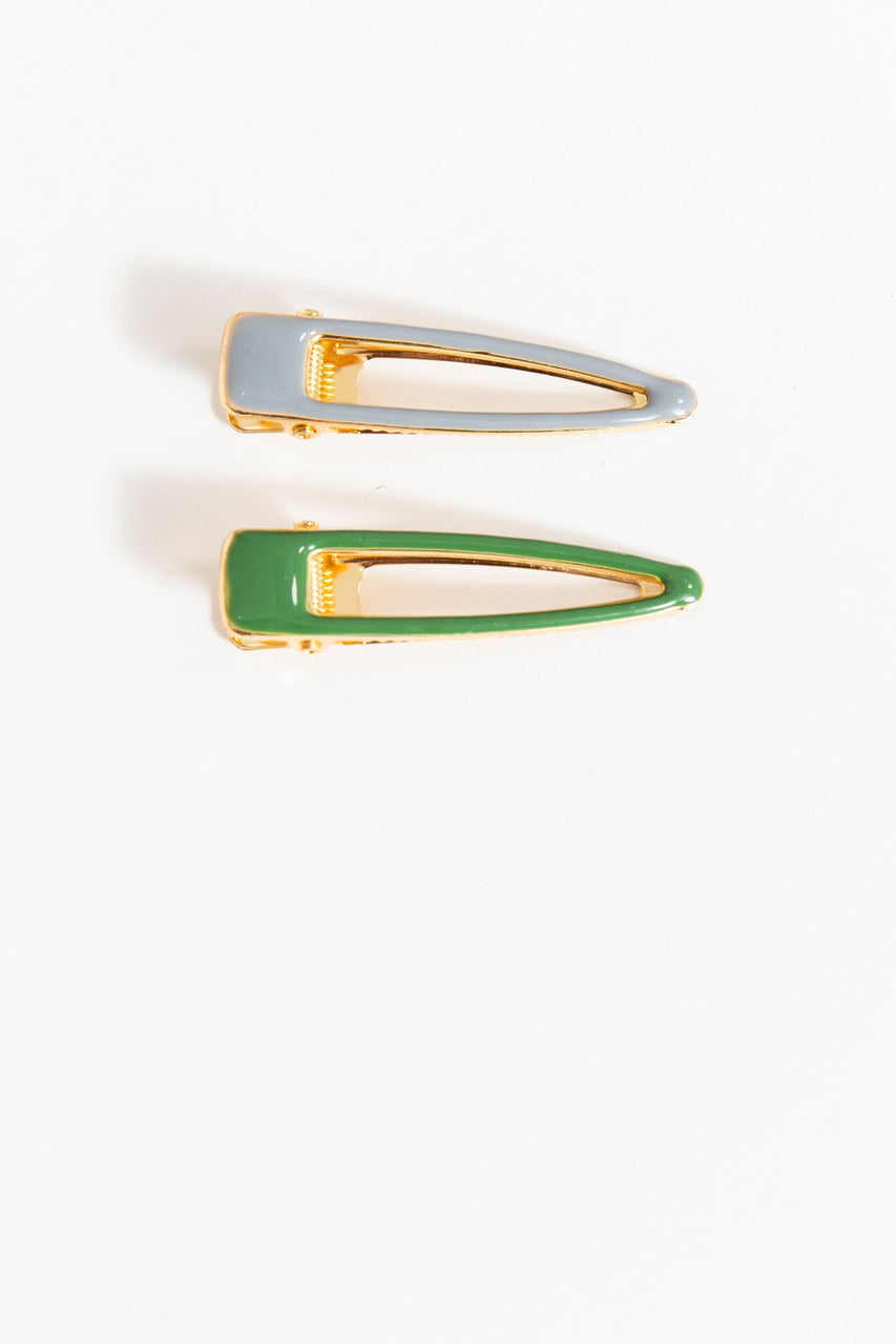 Grey & Green Enamel Slide Set